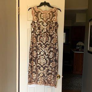 Tadashi Shoji Gold Embellished Dress - Worn Once